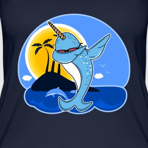Funny Narwhal Dab Shirt - Women's Organic Tank Top by Stanley & Stella