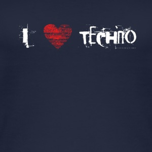 I love techno rave goa hardtek hardstyle - Women's Organic Tank Top
