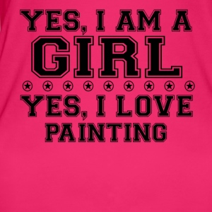 yes gift on a girl love bday gift PAINTING - Women's Organic Tank Top by Stanley & Stella