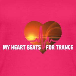 My Heart beats for Trance - Frauen Bio Tank Top