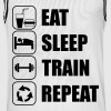 Eat Sleep Train Repeat - Miesten koripallopaita
