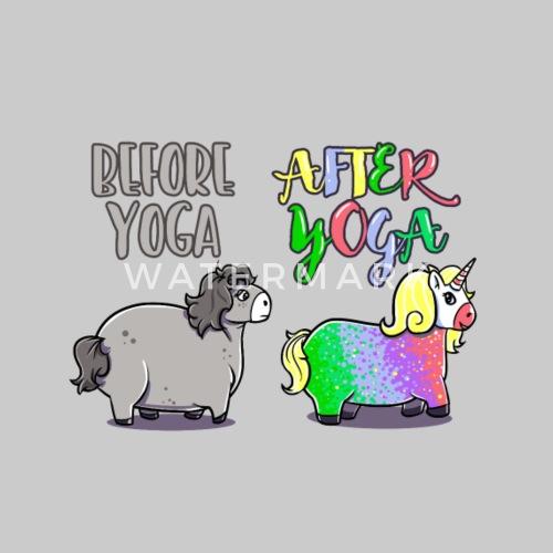 Einhorn Yoga Lustig Geschenk Geburtstag Witzig Beanie Spreadshirt