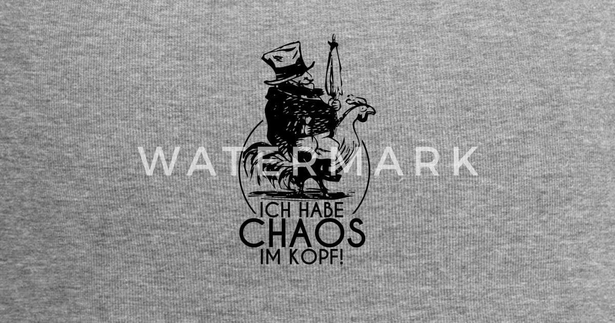 Chaos Im Kopf Shirt Kopfkino Freak Lustige Spruche Beanie Spreadshirt