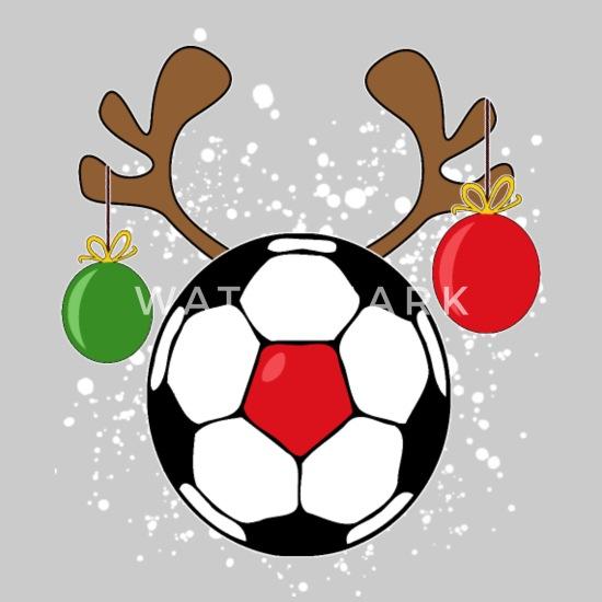 Weihnachten Fussball Geschenk Geweih Heiligabend Jersey Beanie Grau Meliert