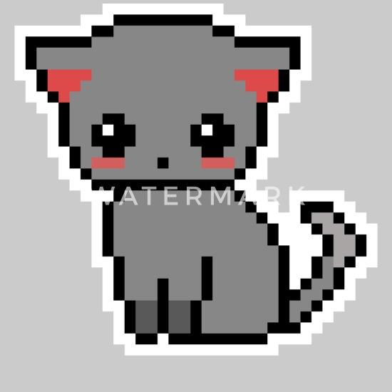 Chaton Doux Chat Pixel Pixelart Beanie Spreadshirt