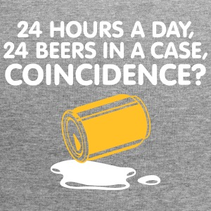 24 Hours A Day ,24 Beers In A Case,Coincidence? - Jersey Beanie