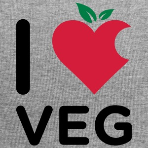 I Love Veg logo made from a mix of heart and fruit - Beanie in jersey