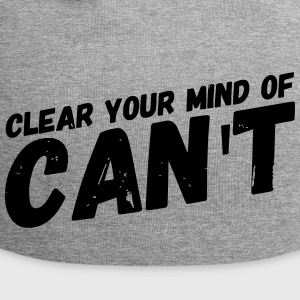 motivational saying CLEAR YOUR MIND gift - Jersey Beanie