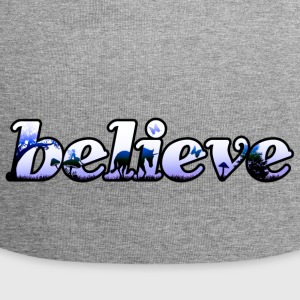 Believe magic lettering - Jersey Beanie