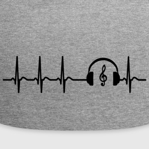 Heart beat music Singer teacher band cool saying - Jersey Beanie