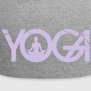 Yoga writing with woman in grunge style - Jersey Beanie