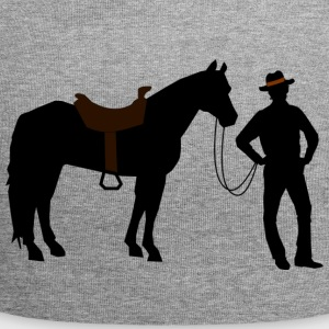 Cowboy with horse - Jersey Beanie