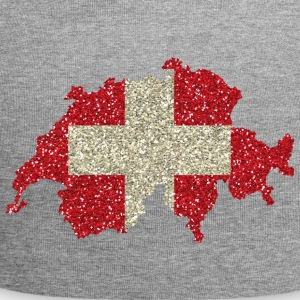 Swiss flag glitter home tradition card - Jersey Beanie