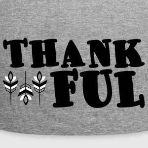 Thanksgiving / Erntedankfest: Thankful - Jersey-Beanie