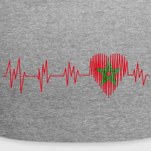 Morocco Morocco المغرب Heart pulse heart beat - Jersey Beanie