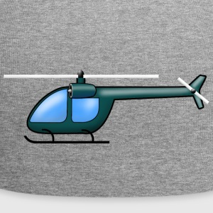 Helicopter donkergroen - Jersey-Beanie