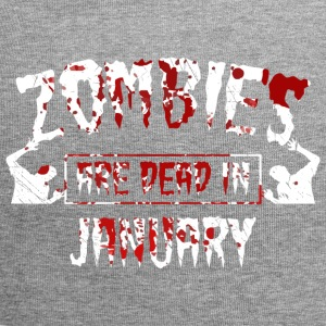 zombies are dead in january - Geburtstag Birthday - Jersey-Beanie