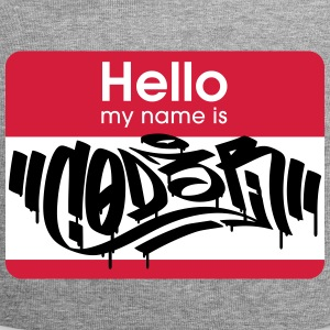 Hacker Graffiti Tag - Hello My Name Is CODER - Jersey Beanie