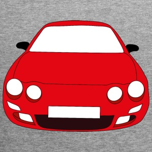 rotes Auto - Jersey-Beanie