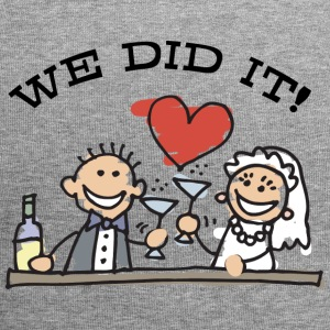 Just Married We Did It - Jersey-Beanie