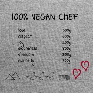 100% vegan chef - Beanie in jersey