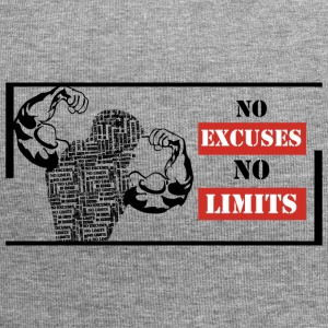 No excuses No limits - Gorro holgado de tela de jersey