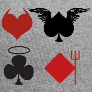 Poker Blackjack Ass Devil Devil Casino Angel Card - Jersey Beanie