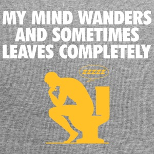My Mind Wanders And Sometimes Leaves Completely. - Jersey Beanie