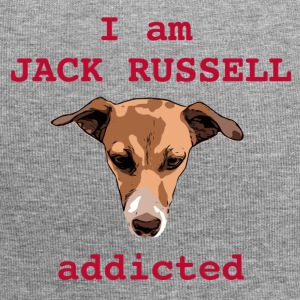 Jack russel addicted red - Jersey Beanie