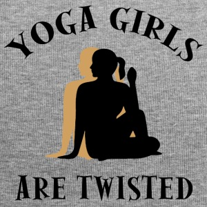 Yoga Girls Are Twisted - Funny Yoga - Jersey Beanie