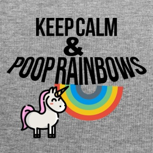 Keep calm and poop rainbows - Jersey-Beanie