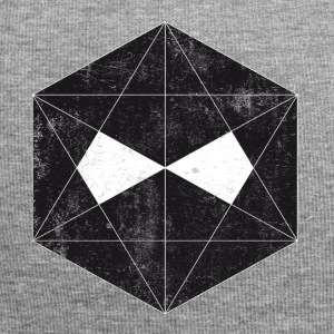 New dark polygon face design - T-Shirt - - Jersey Beanie