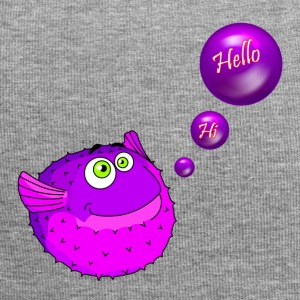 Cute Purple Puffer Fish - Jersey Beanie