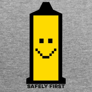 Safely In primo luogo - Smiley - Retro pixel Smilie preservativo - Beanie in jersey