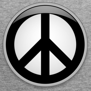 Peace button large - Jersey Beanie