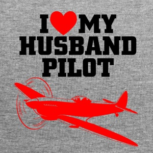 I love my husband pilot - Jersey-Beanie