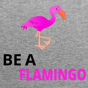 Be A Flamingo Black - Jersey Beanie
