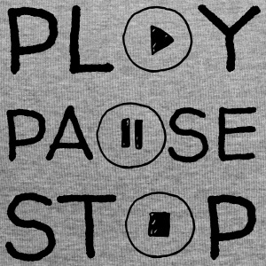 Play Pause Stop - Jersey Beanie
