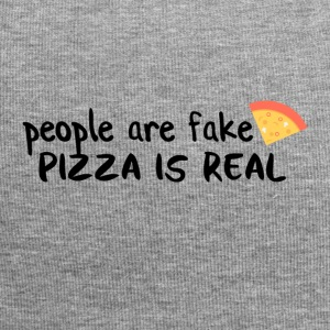 Pizza is real People are fake - Jersey-Beanie
