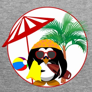Penguin Surfer bird color vacation summer sun - Jersey Beanie