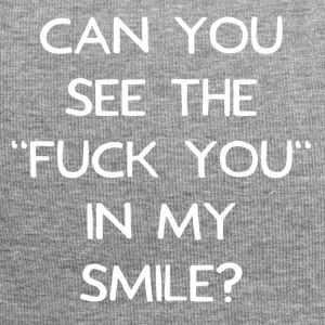 Can you see the fuck you in my smile? - Jersey Beanie