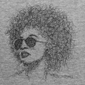 Afro Scribble - Jersey-beanie