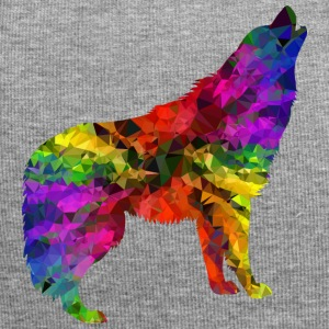 Howling Wolf in un arcobaleno di colori - Beanie in jersey