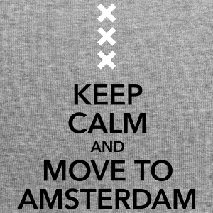 keep calm move to Amsterdam Holland Andreaskreuz - Jersey-Beanie