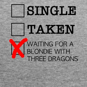 WAITING FOR A BLONDIE WITH THREE DRAGONS black - Jersey-Beanie
