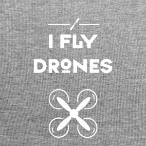 drone I fly drone airplane pilot flying hip - Jersey Beanie