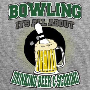 Bowling Drinking Beer And Scoring - Jersey Beanie