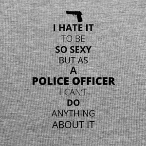 HATE it be sexy can do anything POLICE OFFICER - Jersey Beanie
