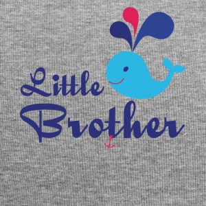Little Brother. Whale, sea, anchor. Personalise - Jersey Beanie