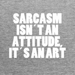 SARCASM ISNT TO ATTITUDE ITS AN ART - white - Jersey Beanie